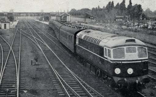1958 diesel testing at Welwyn Garden city. Courtesy of the Phil Marsh collection