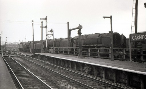 1968 scrapped stem engines at Carnforth being towed away courtesy of Geoff Marsh