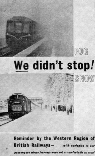 1) 1963 snow leaflet. Courtesy of the Phil Marsh collection