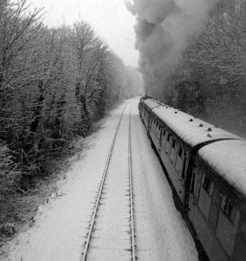 4) Steam and snow. Courtesy of Phil Marsh