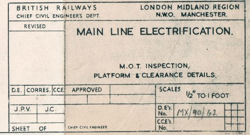 5) 1960s electrification plan. Courtesy of the Phil Marsh collection.