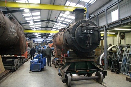 Mid-Hants gala boiler shop. Courtesy of Cliff Thomas