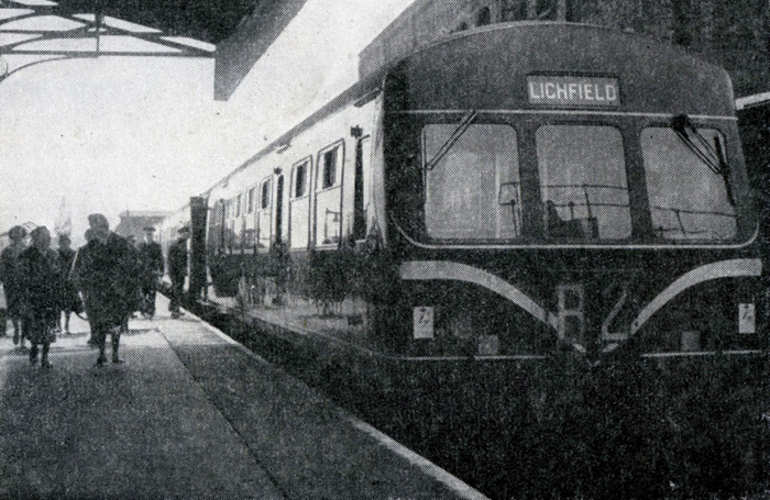 Lichfield City, new DMU, 1961