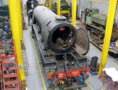 8 2013 Flying Scotsman in The Works at the NRM in York. Courtesy Paul Bickerdyke