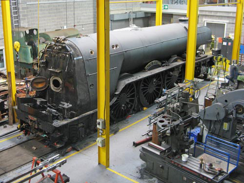 9 2013 Flying Scotsman with its cab removed. Courtesy Paul Bickerdyke