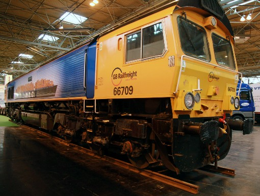 1 Locomotive at multimodal. Courtesy of Phil Marsh