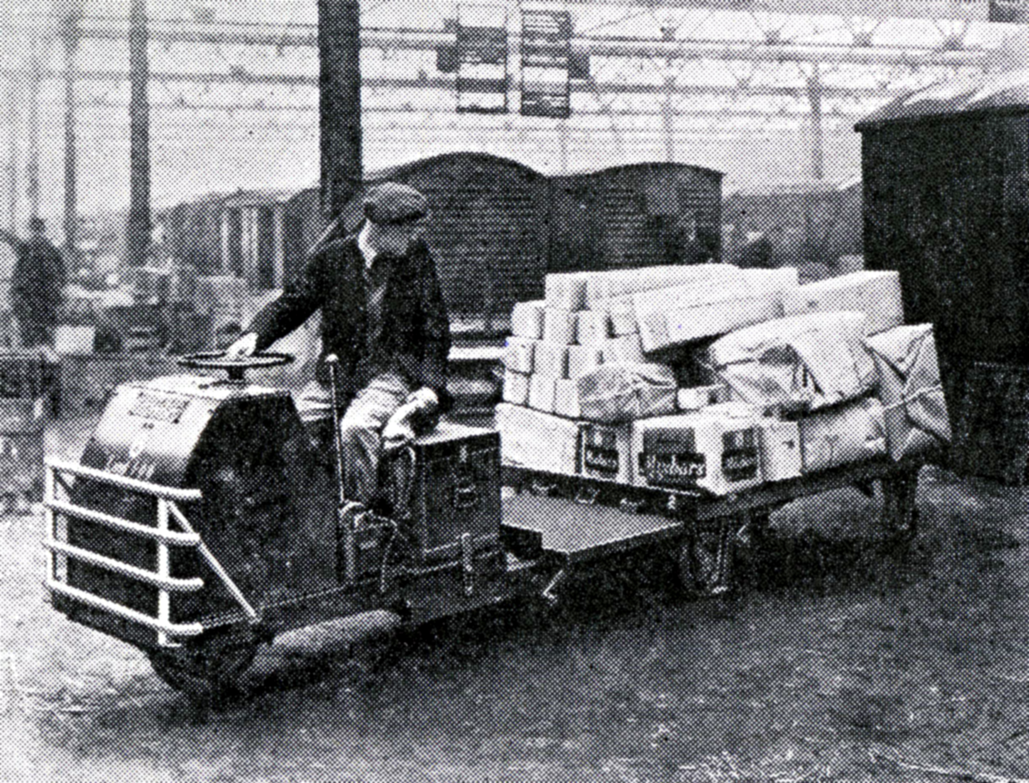 The Scott, electonically controlled parcels tractor, 1961