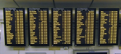 London Bridge departures. Courtesy of Phil Marsh