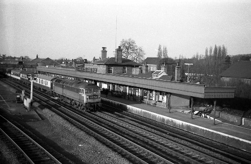 1967 post Beeching diesel express at hatfield. Courtesy of Geoff Marsh