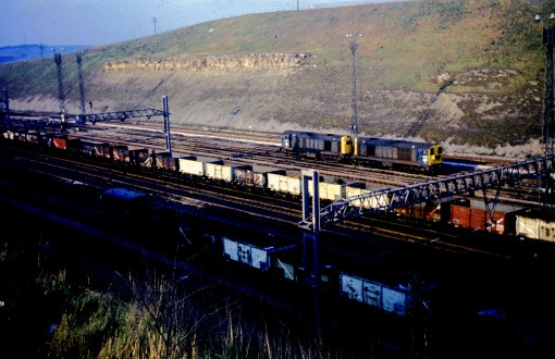 1976 tinsley freight yard coal and class 20s. Courtesy of Phil Marsh