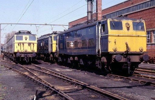 1982 line closed locomotives lined up for scrap. Courtesy of Phil Marsh