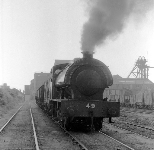 1970 Colliery train at Backworth. Courtesy of Geoff Marsh