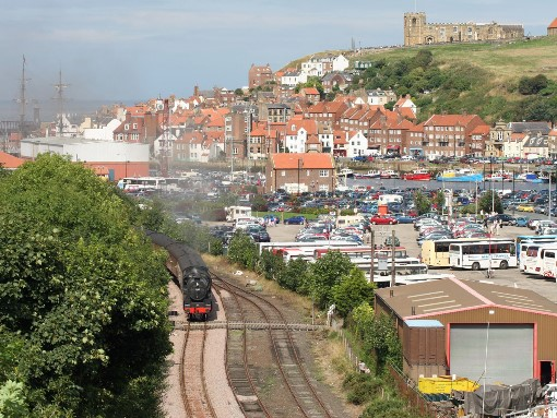 45407 leaves Whitby. Courtesy of Cliff Thomas