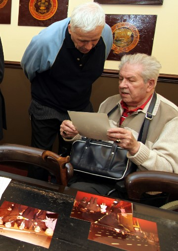 1) Stan Butler sitting with royal memorabilia. Courtesy of  Phil Marsh