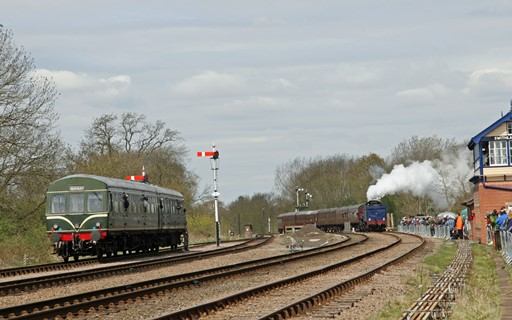 6023 passes DMU. Courtesy of Cliff Thomas