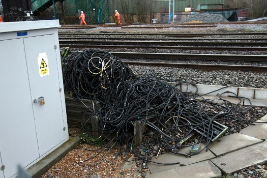 6 Redundant signalling cables at Bletchley. Courtesy of Phil Marsh