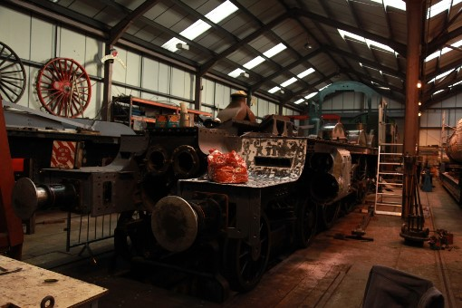 6 County locomotive under construction at Didcot. Courtesy of  Phil Marsh