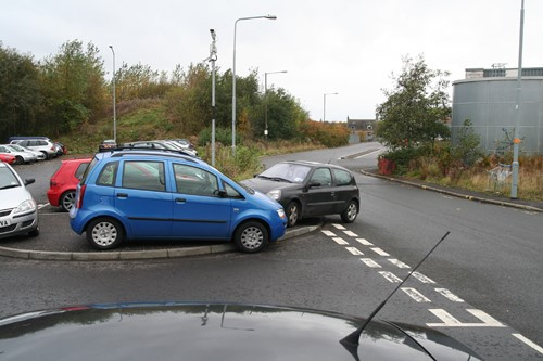 8 Bathgate car chaos. Courtesy of Phil Marsh