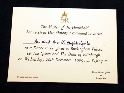 2 W175 launch royal dance invitation. Courtesy of Phil Marsh