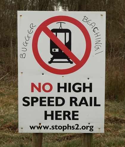 No to HS2. Courtesy of Phil Marsh