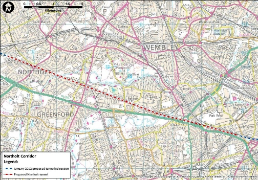 5 Proposed Northolt Tunnel Map. Courtesy of HS2