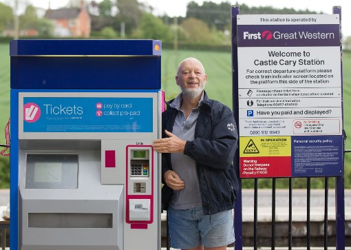 1 Micheal Eavis and the TVM courtesy of First Great Western