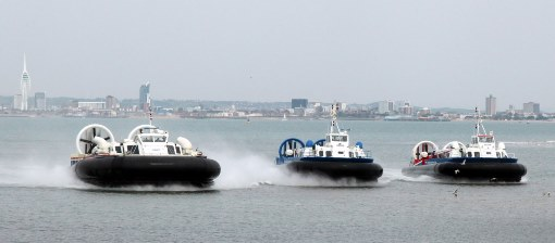 3 hovercraft near Ryde by Phil Marsh