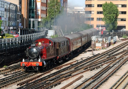Steam Back on the Met 26 May_Prairie steams from Harrow. Courtesy of Cliff Thomas