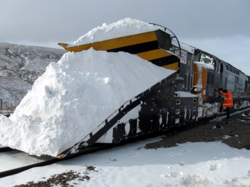 Network Rail snow problems. Courtesy of Network Rail