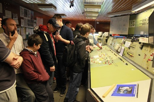 Bletchley signalbox visitors . Courtesy of Phil Marsh