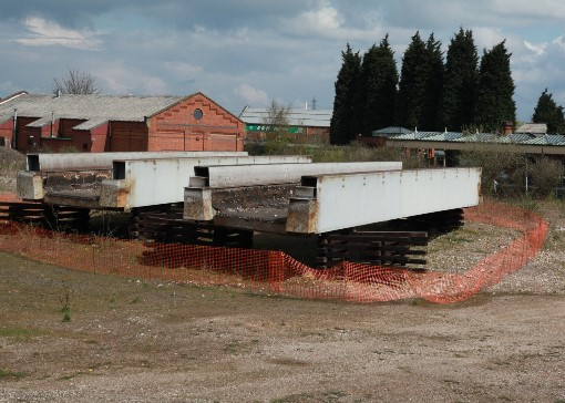 1) The new bridge spans stored at Loughborough. Courtesy of Phil Marsh