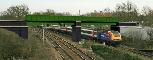 9) A Network Rail visualisation of the new bridge expected to be in place in mid 2015 -® Network Rail