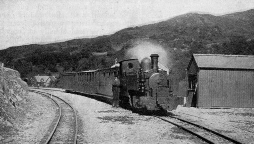 1 Welsh Highland  Railway locomotive Russell at beddgelert 1900 Phil Marsh collection