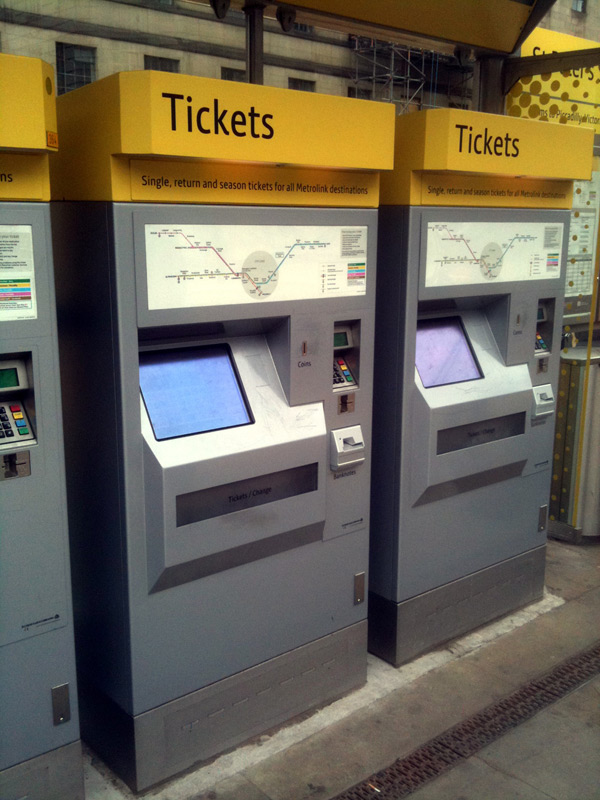 Metrolink ticket machine