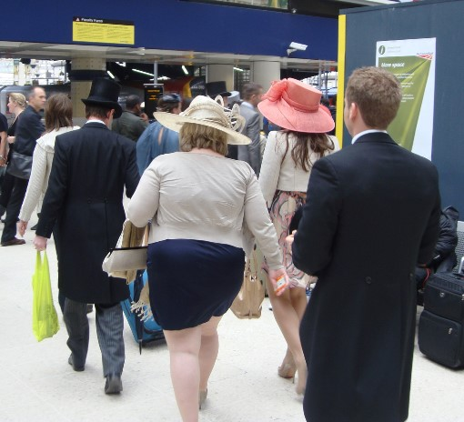 5 Ascot racegoers at waterloo by Phl Marsh