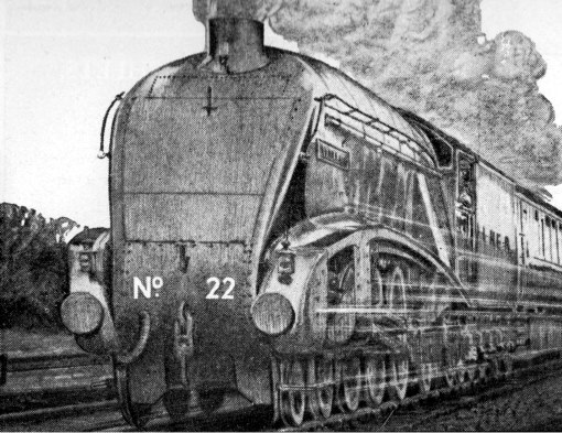 Impression of Mallard at speed. Courtesy of Phil Marsh collection