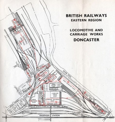 Doncaster works plan Jan 1949 courtesy of Phil Marsh