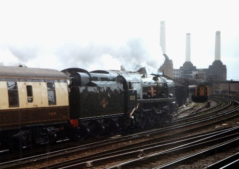 35028 clan line on VSOE at Battersea. Courtesy of Phil Marsh
