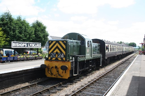 'Teddy Bear' No. D9526 waits to depart from Bishops Lydeard, by Peter Nicholson