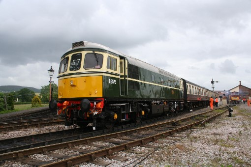 Class 33 No. D6575 heads a down train at Williton, by Peter Nicholson