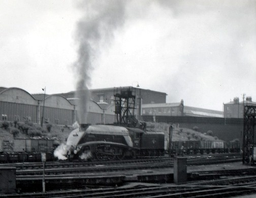 60022 at Kings cross in 1957. By B Andrews