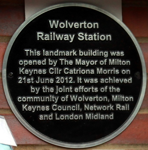 Wolverton plaque by Phil Marsh
