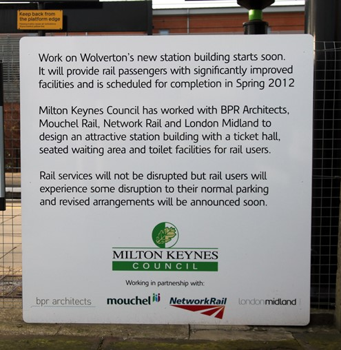 Wolverton station work announcement by Phil Marsh