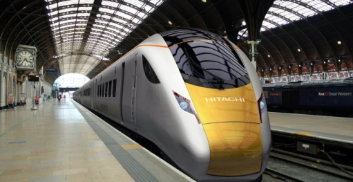 Hitachi express train at Paddington. Courtesy of Hitachi