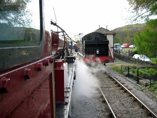 Royal Scot footplate 2009 by Cliff Thomas