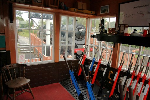View from the preserved chinnor railway signalbox  by phil marsh