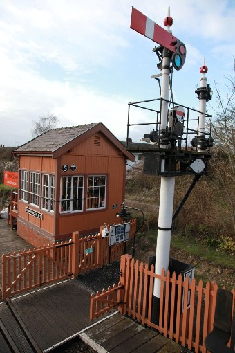 The preserved signalbox at chinnor by Phil Marsh