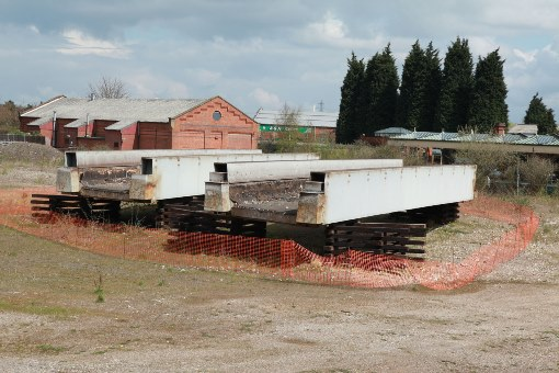 The bridge at loughboro waiting to be put in place by Phil Marsh
