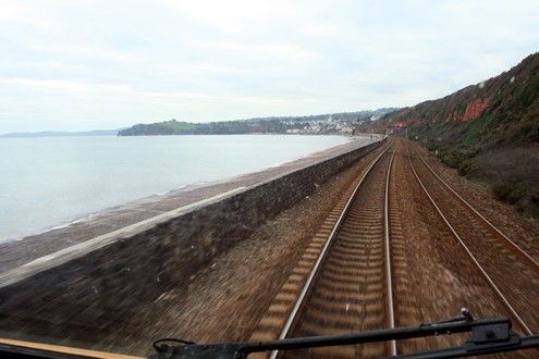 Dawlish sea wall from the driving seat by Phil Marsh