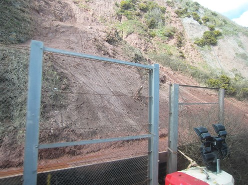 Dawlish line cliff erosion and protection measures from Phil Marsh